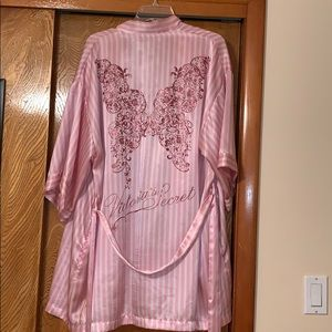 Victoria's Secret satin robe with detailed back